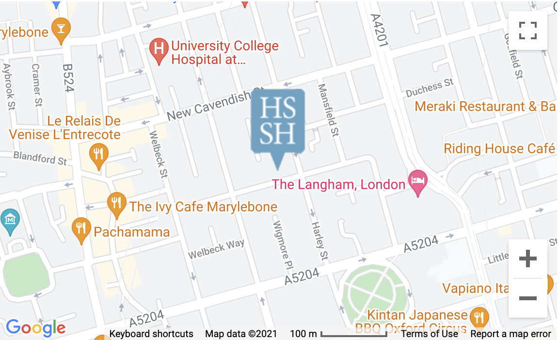 Map of location of Harley Street Specialist Hospital